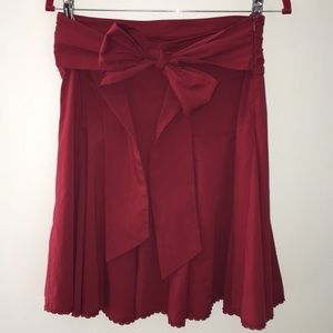 Cute Red Bow tie Skirt